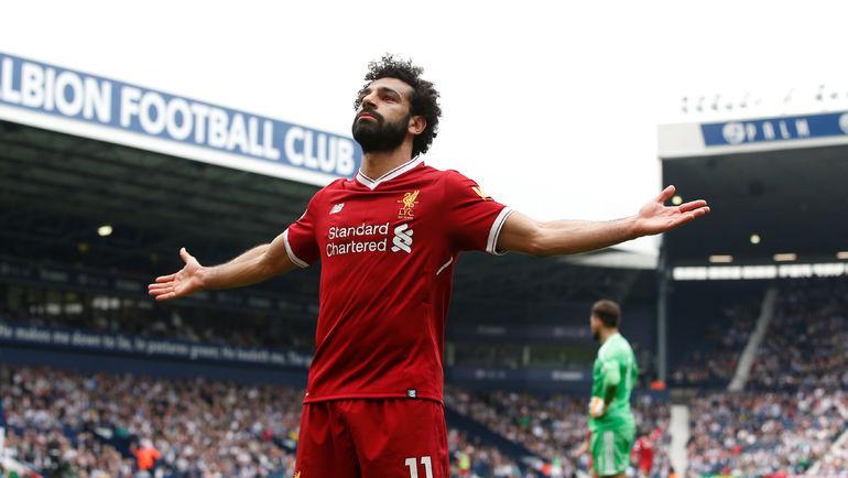 """Суббота. Уэст-Бромидж. """"Вест Бромвич"""" - """"Ливерпуль"""" - 2:2. Мохамед САЛАХ празднует очередной гол. Фото AFP"""