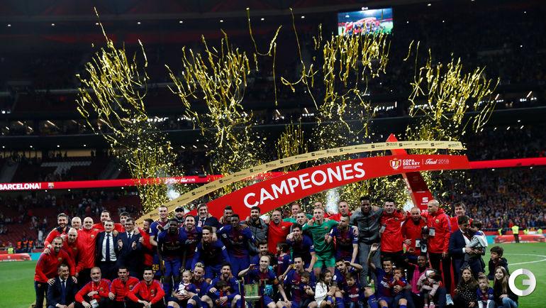"""Суббота. Мадрид. """"Севилья"""" - """"Барселона"""" - 0:5."""