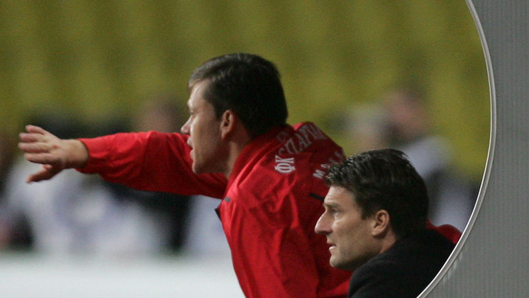 Сентябрь 2008 года. Игорь ЛЕДЯХОВ (слева) и Микаэль ЛАУДРУП. Фото Александр ВИЛЬФ