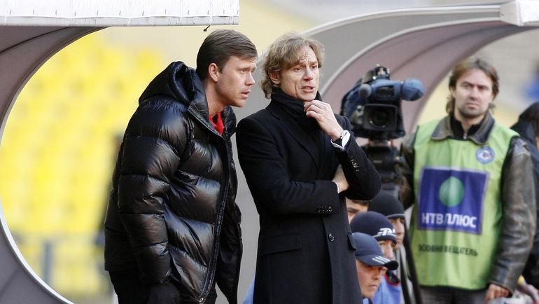 Апрель 2009 года. Игорь ЛЕДЯХОВ (слева) и Валерий КАРПИН. Фото Алексей ИВАНОВ