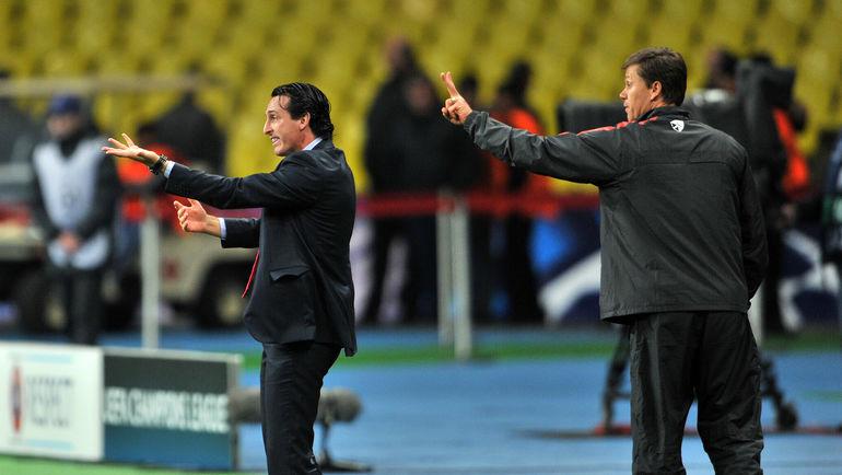 Октябрь 2012 года. Игорь ЛЕДЯХОВ (справа) и Унаи ЭМЕРИ. Фото Алексей ИВАНОВ