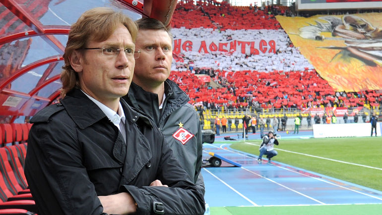 Апрель 2013 года. Игорь ЛЕДЯХОВ (справа) и Валерий КАРПИН. Фото Татьяна ДОРОГУТИНА