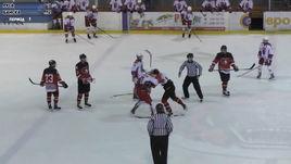 Сумасшедшее побоище русских и словацких хоккеистов