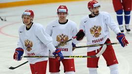 Вадим ШИПАЧЕВ, Артемий ПАНАРИН, Вячеслав ВОЙНОВ (слева направо).