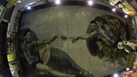 Месси и Марадона на фреске Микеланджело