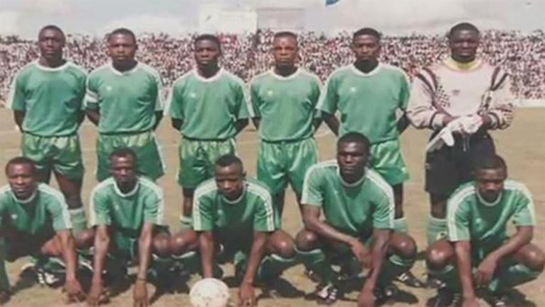 Сборная Замбии перед одним из матчей незадолго до трагедии.