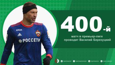 Василий Березуцкий провел 400-й матч в высшем дивизионе