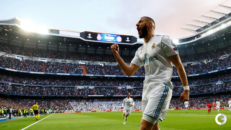 "Вторник. Мадрид. ""Реал"" - ""Бавария"" - 2:2. Карим БЕНЗЕМА."