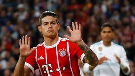 """Вторник. Мадрид. """"Реал"""" – """"Бавария"""" – 2:2. ХАМЕС РОДРИГЕС забил своему клубу и не стал праздновать гол."""
