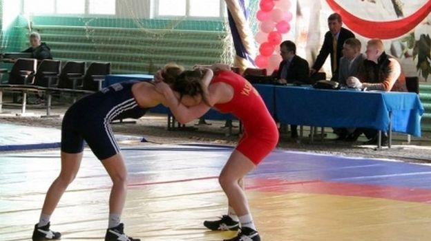 Украинские спортсмены рады выступать на чемпионате Европы в Каспийске. Фото ukrwrestling.com