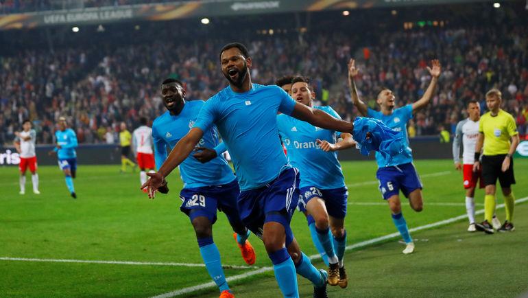 """Четверг. Зальцбург. """"Зальцбург"""" - """"Марсель"""" - 2:1. 115-я минута. Только что гости провели решающий гол после углового, которого не было. Фото Reuters"""