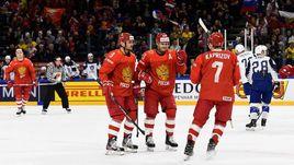 Сегодня. Копенгаген. Россия - Франция - 7:0. Россияне начали ЧМ с победы.