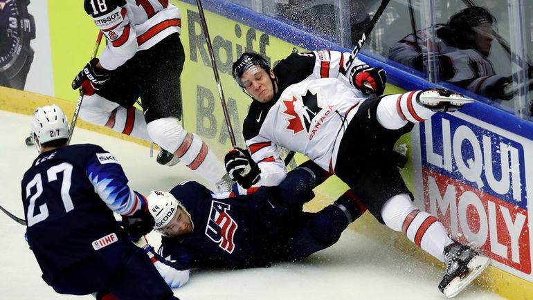 Пятница. Хернинг. США - Канада - 5:4 Б. Американцы победили канадцев на старте ЧМ. Фото REUTERS
