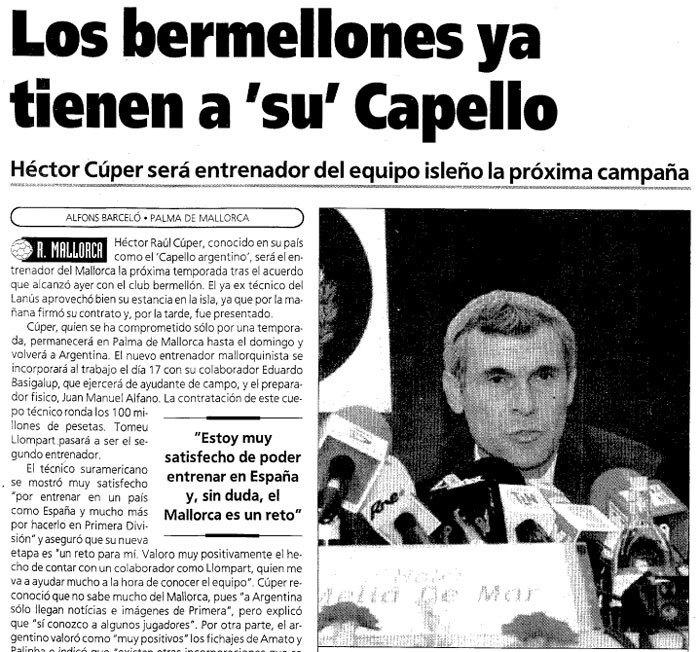 Заголовок статьи о приезде Купера в Испанию. Фото El enganche