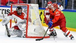 Сегодня. Копенгаген. Белоруссия - Россия - 0:6. Александр БАРАБАНОВ (№ 94) атакует ворота Виталия ТРУСА.
