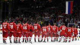 Игроки сборной России на чемпионате мира в Дании.