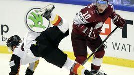 Сегодня. Хернинг. Латвия - Германия - 3:1. Серебряные призеры Олимпиады-2018 потерпели очередное поражение.