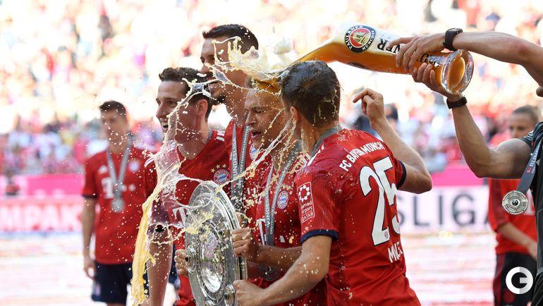 "Суббота. Мюнхен. ""Бавария"" празднует чемпионство."