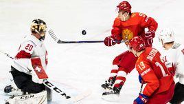 Суббота. Копенгаген. Россия - Швейцария - 4:3. Никита ГУСЕВ (№97) принял участие в двух шайбах в ворота Рето БЕРРЫ.