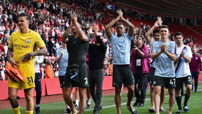 """Воскресенье. Саутгемптон. """"Саутгемптон"""" - """"Манчестер Сити"""" - 0:1. Чемпион Англии """"Манчестер Сити"""" добрался до отметки в 100 голов. Фото AFP"""