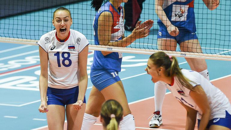 Капитан сборной России Ксения ПАРУБЕЦ (слева). Фото AFP
