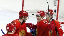 Понедельник. Копенгаген. Россия - Словакия - 4:0. Россияне празднуют новую победу на ЧМ.