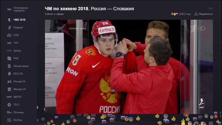 """Эмоции пользователей """"Яндекса"""" на события матча Россия - Словакия."""
