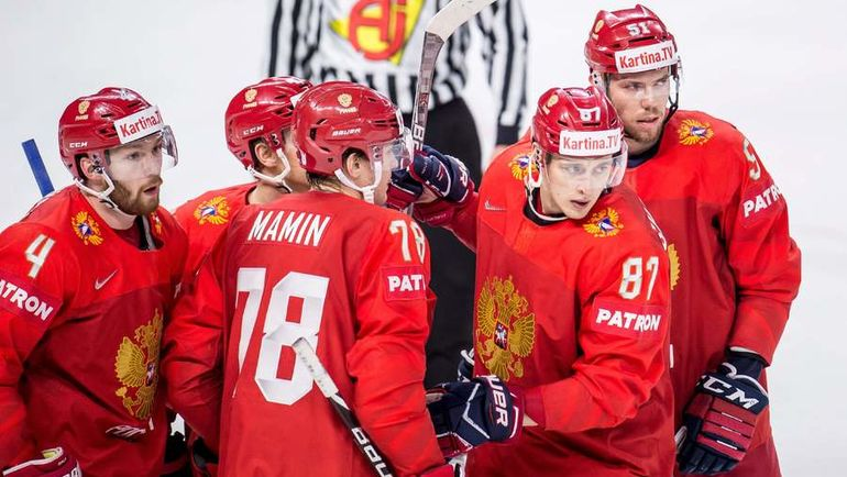 Понедельник. Копенгаген. Россия - Словакия - 4:0. Россияне одержали пять побед в шести матчах, а во вторник закроют групповой турнир встрече со шведами. Фото AFP