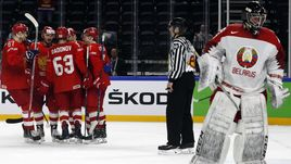 7 мая. Копенгаген. Россия - Белоруссия - 6:0. Белорусская команда вылетела из высшего дивизиона впервые за много лет.
