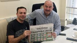 Главный тренер сборной России Станислав ЧЕРЧЕСОВ и Игорь РАБИНЕР.