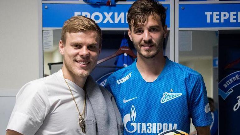 Александр КОКОРИН и Александр ЕРОХИН. Фото fc-zenit.ru