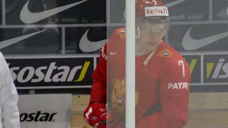 Четверг. Копенгаген. Россия - Канада - 4:5 ОТ. Кирилл КАПРИЗОВ: эмоции после победного гола канадцев.
