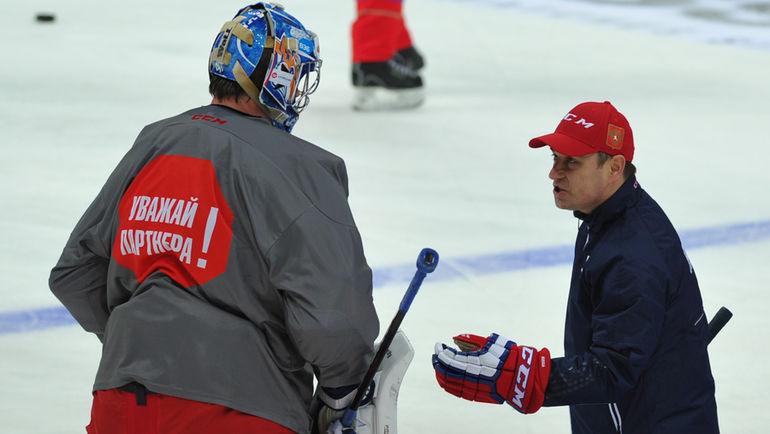 """Рашит ДАВЫДОВ (справа) и Василий КОШЕЧКИН. Фото Александр ФЕДОРОВ, """"СЭ"""""""