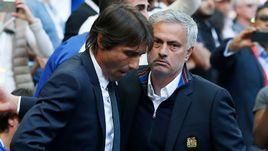 """Сегодня. Лондон. """"Челси"""" - """"Манчестер Юнайтед"""" - 1:0. Антонио КОНТЕ и Жозе МОУРИНЬЮ."""