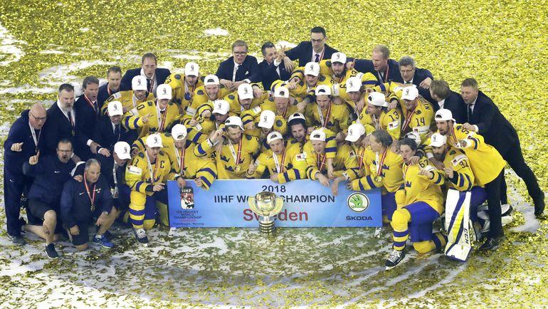 Воскресенье. Копенгаген. Швеция – Швейцария – 3:2 Б. Шведы - чемпионы мира. Фото REUTERS