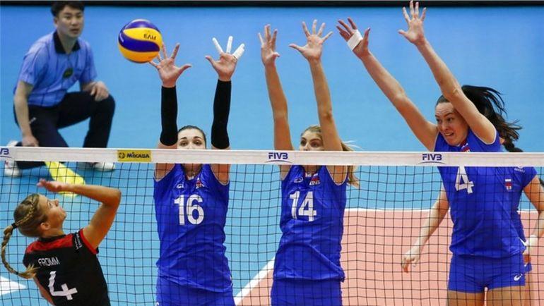 Сегодня. Сувон. Германия – Россия – 1:3. Фото fivb.com