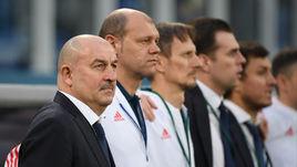 Станислав ЧЕРЧЕСОВ, Мирослав РОМАЩЕНКО и Гинтарас СТАУЧЕ (слева направо).