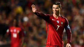 Лидер и главная звезда сборной Португалии КРИШТИАНУ РОНАЛДУ.