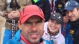 Александр САРАТОВСКИЙ и Сергей ТУТМИН (крайний справа в синей кепке с олимпийскими кольцами).