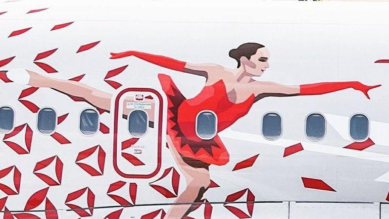 """Изображение АЛИНЫ ЗАГИТОВОЙ на Airbus A319. Фото Авиакомпания """"Россия"""""""