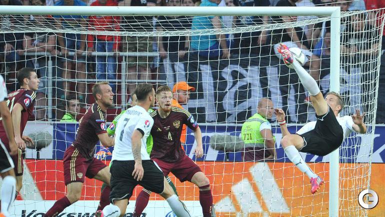 14 июня 2015 года. Москва. Россия – Австрия – 0:1. Гол Марко ЯНКО в ворота сборной России.