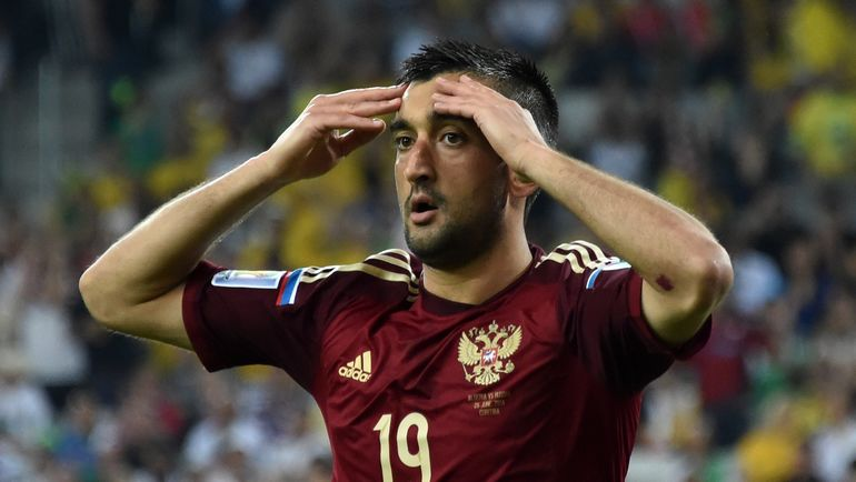 26 июня 2014 года. Куритиба. Алжир - Россия - 1:1. Реакция Александра САМЕДОВА на упущенный момент. Фото AFP