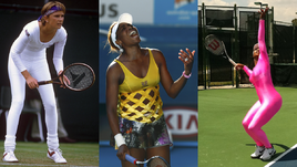 От байкерши до Леди Гаги. Странные наряды теннисисток