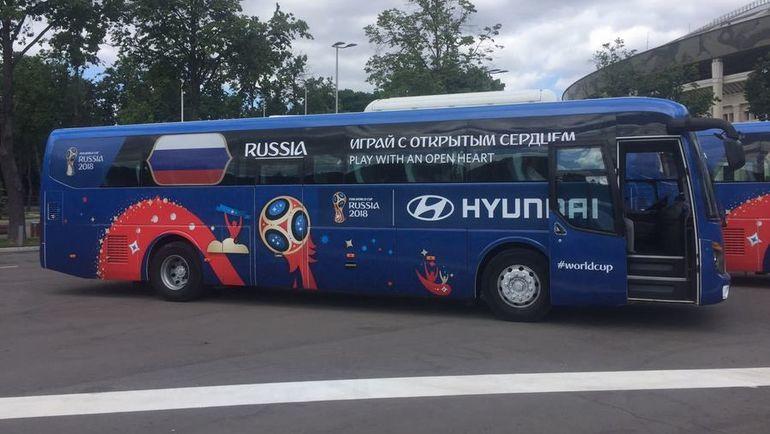 """Автобус сборной России на ЧМ-2018. Фото """"СЭ"""""""