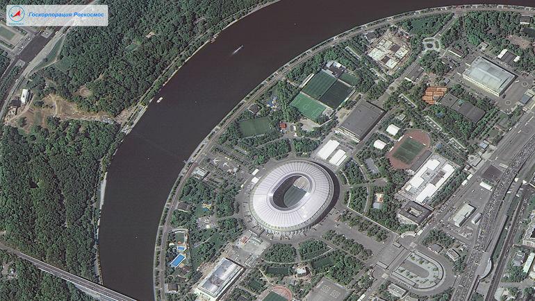 """""""Лужники"""", Москва. Фото """"Роскосмос"""""""