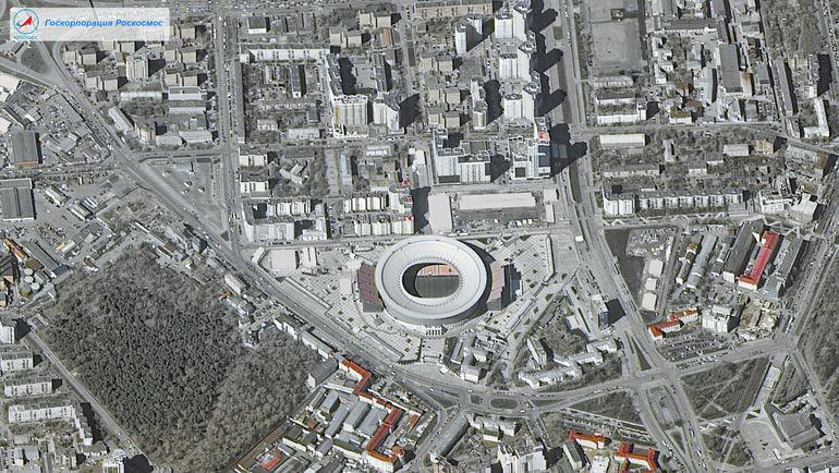 """Стадион """"Екатеринбург"""", Екатеринбург. Фото """"Роскосмос"""""""