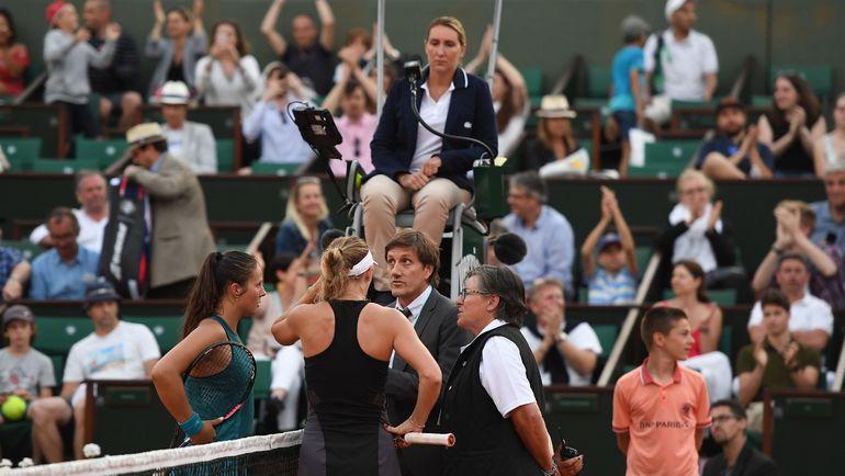 Сегодня. Париж. Дарья КАСАТКИНА и Каролин ВОЗНЯЦКИ. Фото AFP