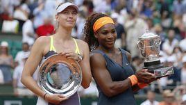 Мария ШАРАПОВА и Серена УИЛЬЯМС после финала Roland Garros-2013.