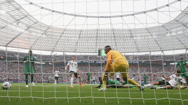 Сегодня. Леверкузен. Германия - Саудовская Аравия - 2:1. Будущий соперник России по групповому этапе ЧМ-2018 дал бой немцам. Фото DFB