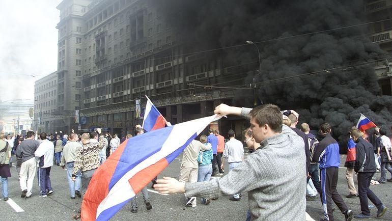 9 июня 2002 года. Москва. Беспорядки на улицах города после поражения сборной России в матче чемпионата мира против Японии.